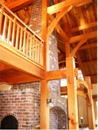 Open timber frame